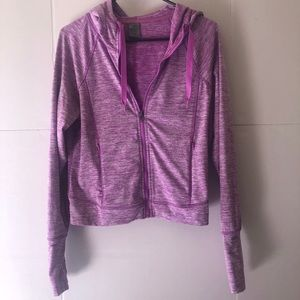champion Duo Dry Workout Zip Up Pink Size M
